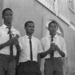 Errol Thomas,Uthan Noel (teacher) and Nicholas Jacobs