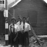 Sports Trophy Winners. Clarissa Scott (left), Letitia Bartholomew (right), Errol Thomas (centre).