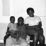 Mr and Mrs Alleyne with son George 'Jeff'.