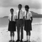 Bishop's College students Ezra, Astor and Edith.