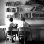 David Joseph? & friend (who?) in Library