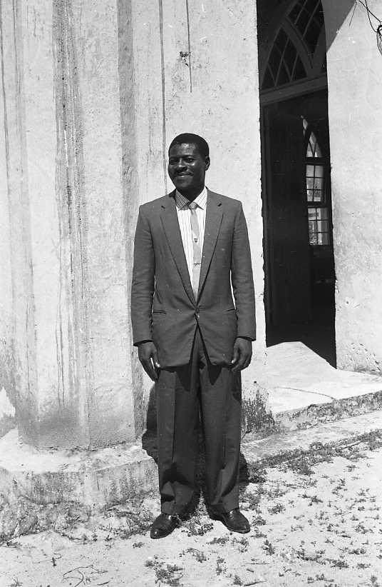 Principal, Mr E.S. 'Goot' Alleyne.