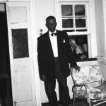 'Uncle' Leroy Noel on Mr Alleyne's verandah.