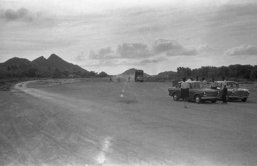 Constructing the 'New' Airstrip.