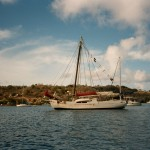 Mermaid at anchor in Tyrell Bay - 2003.