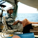 John & Winger aboard Mermaid - 2003.