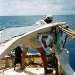 Fishing aboard Mermaid, 2003.