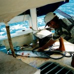 John, Winger & Barracuda aboard Mermaid, 2003